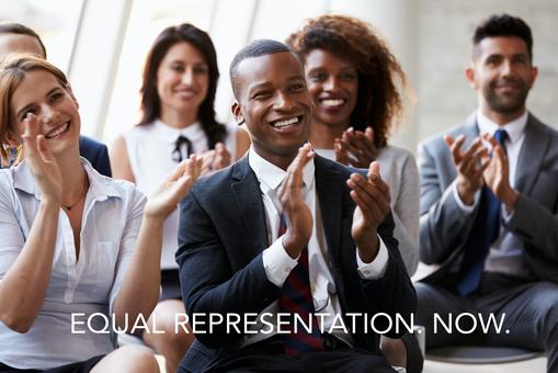 Equal representation now.